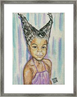 Double Conehead Framed Print