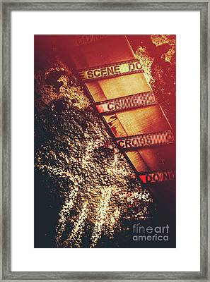 Double Crossing Crime Scene Investigation Framed Print