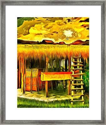 Double Deck For Farming Framed Print