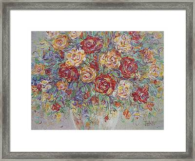 Framed Print featuring the painting Double Delight. by Natalie Holland