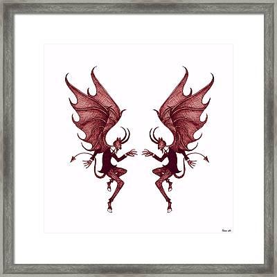 Double Diablo Framed Print