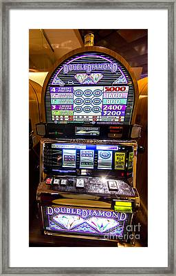 Double Diamond Slot Machine At Lumiere Place Casino Framed Print by David Oppenheimer