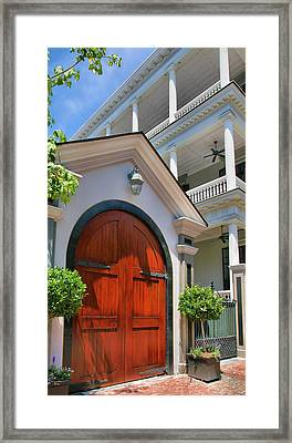 Double Door And Historic Home Framed Print by Steven Ainsworth