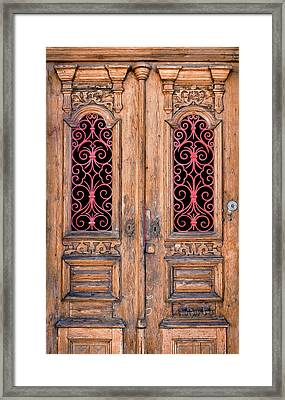 Double Door Framed Print by Carlos Caetano