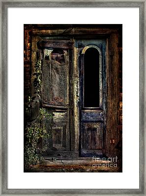 Double Door Framed Print by Sari Sauls