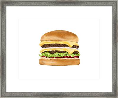 Double Double Framed Print