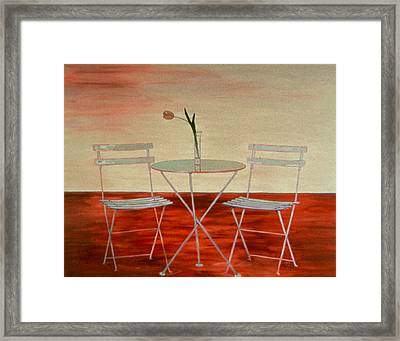Double Espresso Framed Print by Oudi Arroni