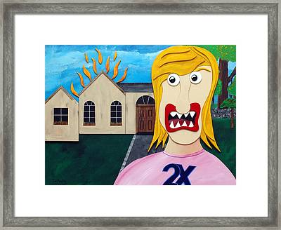 Double-ex Framed Print by Sal Marino