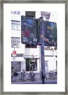 Double Exposure Street Sign Framed Print