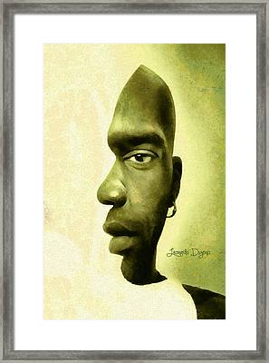 Double Face - Da Framed Print by Leonardo Digenio