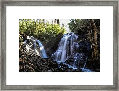 Double Falls Framed Print