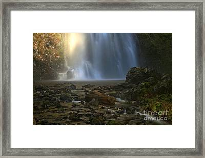Double Falls Creek Framed Print