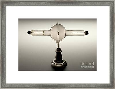 Double Focus X-ray Tube, 1896 Framed Print by Wellcome Images