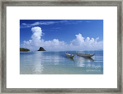 Double Hull Canoe Framed Print by Joss - Printscapes