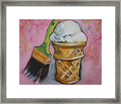 Double Icon Framed Print by Tilly Strauss