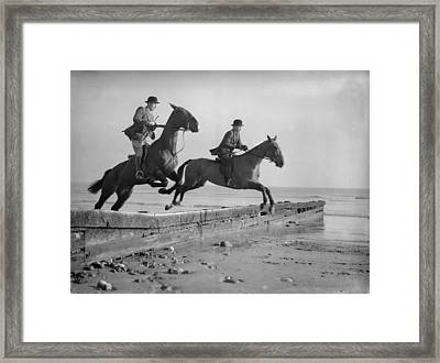 Double Jump Framed Print by E Phillips