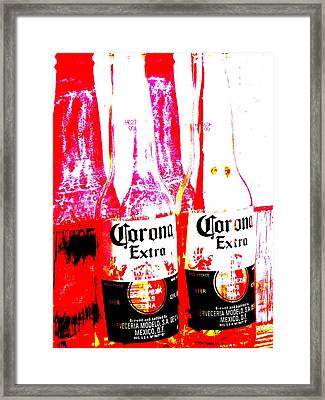 Double Lime Plse Framed Print
