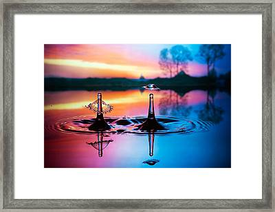 Double Liquid Art Framed Print