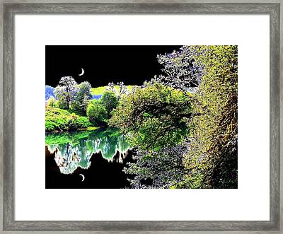 Double Moon Framed Print by Will Borden