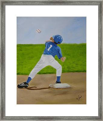 Double Play Framed Print by Joni McPherson