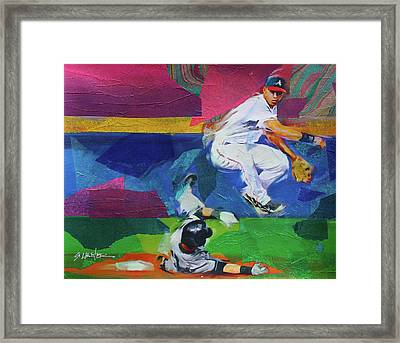 Double Play Framed Print