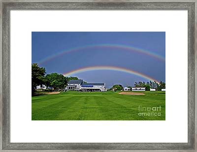 Double Rainbow Framed Print by Butch Lombardi