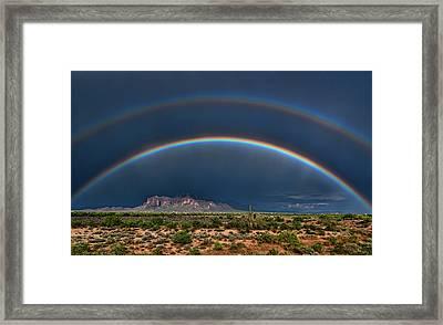 Framed Print featuring the photograph Double Rainbow  by Saija Lehtonen