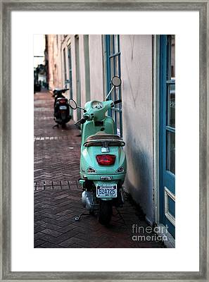 Double Scooters Framed Print by John Rizzuto