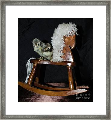 Double Seat Rocking Horse Framed Print