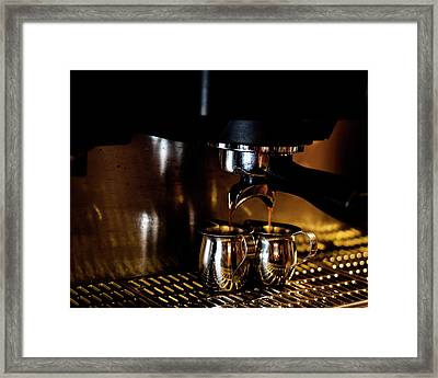 Double Shot Of Espresso 2 Framed Print