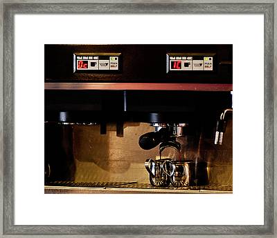Double Shot Of Espresso Framed Print