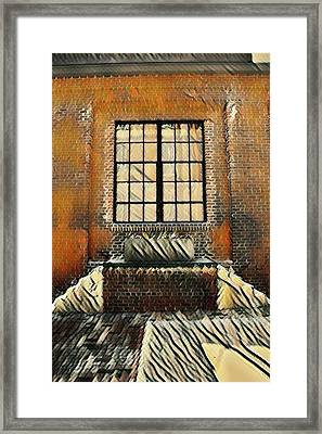 Double Stairs Flower Planter- Artsy Framed Print by Selena Wagner
