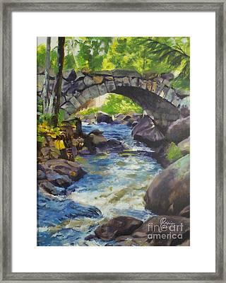 Double Stone Arch Bridge  Framed Print