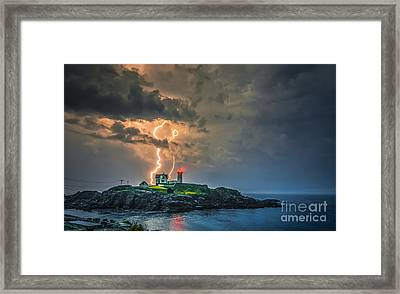 Double Strike Framed Print