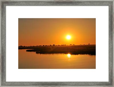 Double Sun Framed Print