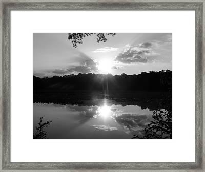 Double Sun Set  Framed Print by D R TeesT
