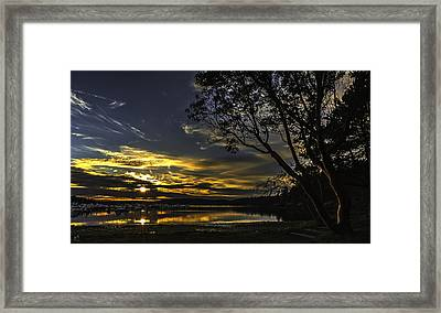 Double Sunset Roche Harbor Framed Print by Thomas Ashcraft
