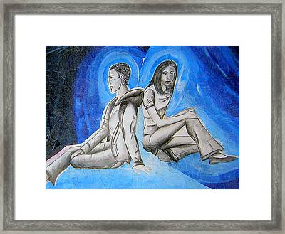 Double Take Of The Blues Framed Print by Lee Nixon