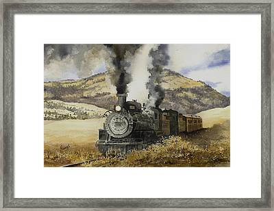 Double Teamin To Cumbres Pass Framed Print by Sam Sidders