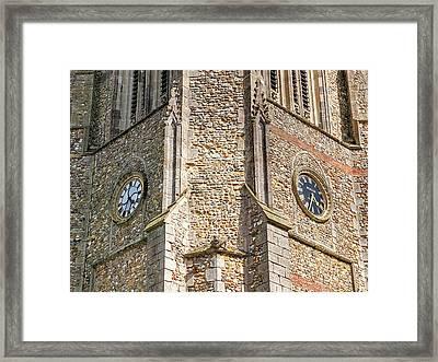 Double Time - Church Clocks Framed Print
