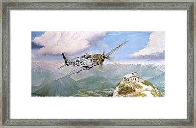 Double Trouble Over The Eagle Framed Print by Marc Stewart