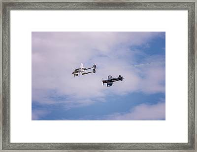 Double Trouble Framed Print