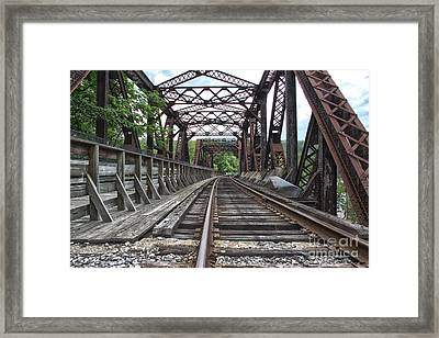 Double Truss Bridge #1679 On The Wmsr Framed Print