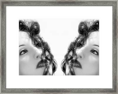Double Vacancy - Self Portrait Framed Print by Jaeda DeWalt