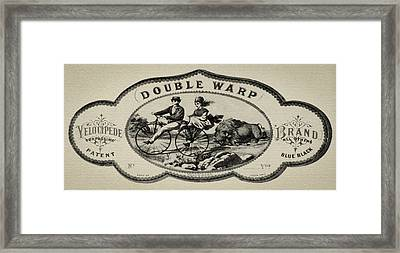 Double Warp Velocipede 1869 Bicycle Framed Print by Bill Cannon