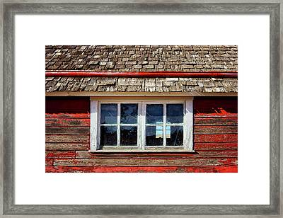Double Window - Chicken Coop Framed Print by Nikolyn McDonald