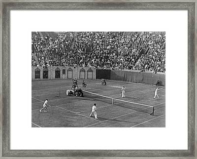Doubles Tennis At Forest Hills Framed Print