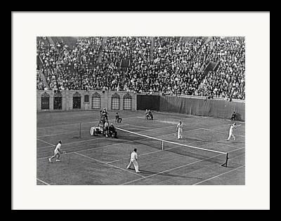 Tennis Champion Framed Prints