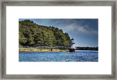 Doubling Point Lighthouse Framed Print by Deborah Klubertanz