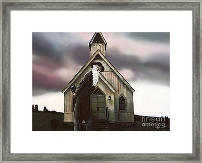 Framed Print featuring the painting Doubt Or Faith by Dave Luebbert